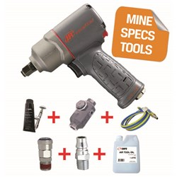 "Ingersoll Rand 2135TIMAX-H - MINE SPEC: 1/2"" Titanium Air Impact Wrench, 780 ft-lbs"