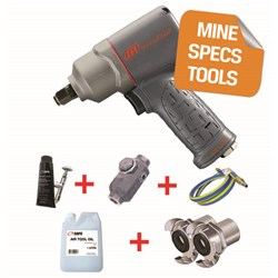 "Ingersoll Rand 2135TIMAX-HC - MINE SPEC: 1/2"" Titanium Air Impact Wrench, 780 ft-lbs"