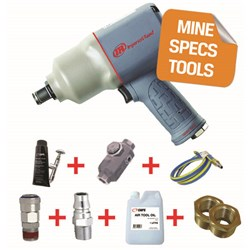 "Ingersoll Rand 2145QIMAX-H - MINE SPEC: 3/4"" Quiet Air Impact Wrench, 1,350ft-lbs"