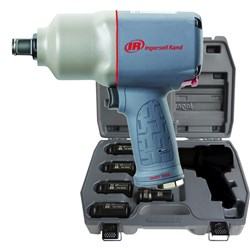 "Ingersoll Rand 2145QIMAX-KIT: 3/4"" Quiet Air Impact Wrench Kit w/ Sockets & Extension"