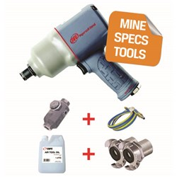"Ingersoll Rand 2155QIMAX-HC - MINE SPEC: 1"" Quiet Air Impact Wrench, 1,350 ft-lb"