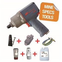"Ingersoll Rand 2235TIMAX-H - MINE SPEC: 1/2"" Titanium Air Impact Wrench, 930ft-lb"