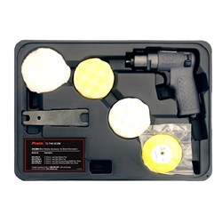 "Ingersoll Rand 3129K: 3"" (76mm) Mini Air Polisher Kit inc. 4 Pads"