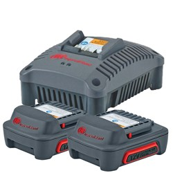 2 x 12V Ingersoll Rand Batteries & Charger Combo