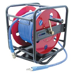 30m Swivel Hose Reel, 8 x 12mm braided hose