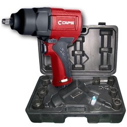 "CAPS C21101-K: 3/4"" Air Impact Wrench Kit w/ Sockets, 1,050 ft-lb"