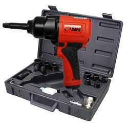 "1/2"" Air Impact Wrench Kit, 2"" Extended Anvil, 900 ft-lbs: CAPS C2121-K"