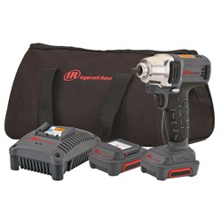 "Ingersoll Rand W1120-K2: 1/4"" 12V Cordless Impact Wrench Kit, 2 Batteries"