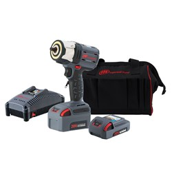 "Ingersoll Rand W5132-K22: 3/8"" 20V Cordless Impact Wrench Kit, 2 Batteries"