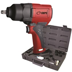 "CAPS C2111-K: 1/2"" Air Impact Wrench Kit w/ Sockets, 900 ft-lb"
