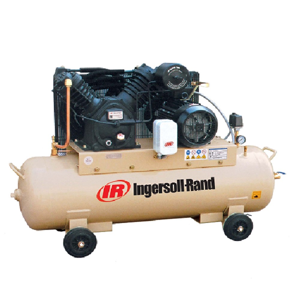 10hp ingersoll rand 2 stage electric air compressor 34cfm for Ingersoll rand air compressor electric motor