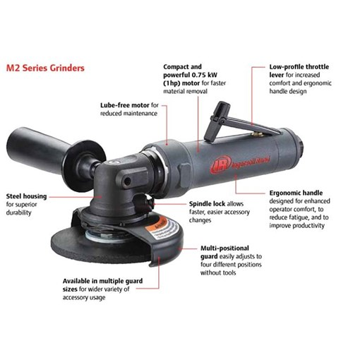 Right Angle Winch : Right angle air grinder rear exhaust ingersoll rand