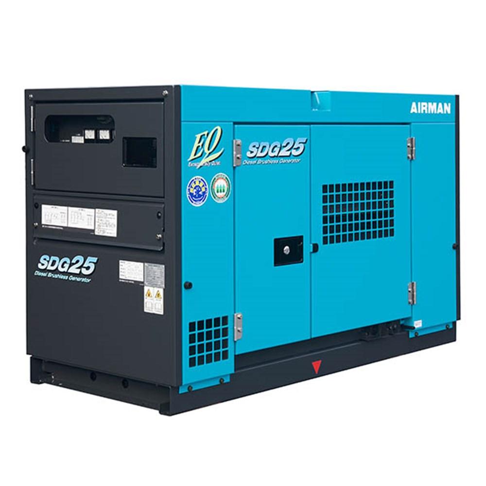 Rent Search Engines: 20 KVA Airman Prime Power Generator: SDG25S-3B1N